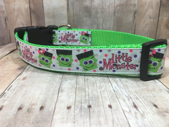 "The Little Monster | Designer 1"" Width Dog Collar 