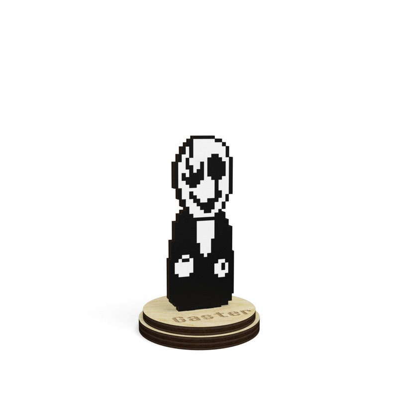 Undertale W D  Gaster collectible game figurine on a stand