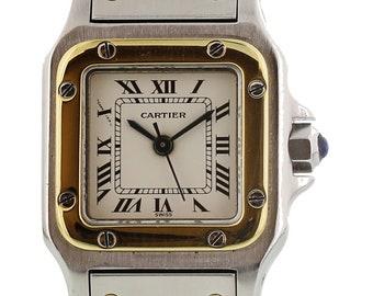 Ladies Cartier Santos 18K YG & SS Automatic