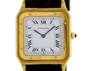 Cartier Santos Dumont Paris 18k Yellow Gold 15751 Watch