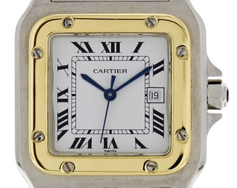Large Cartier Santos Galbee Two Tone Automatic