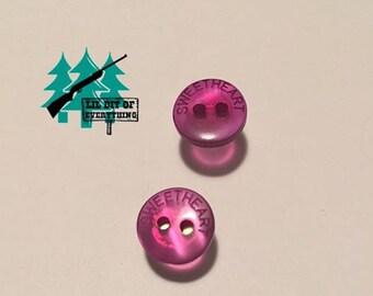 Sweetheart Pink Button Earrings