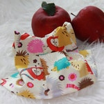 """New Waldorf Doll Dress 8-9"""" with cute hedgehogs"""