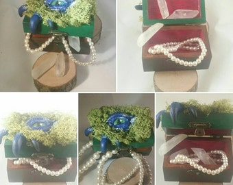Polymer Clay Jewellery Warden Gift Jewellery boxletter box Oracle; Decoupage Gift