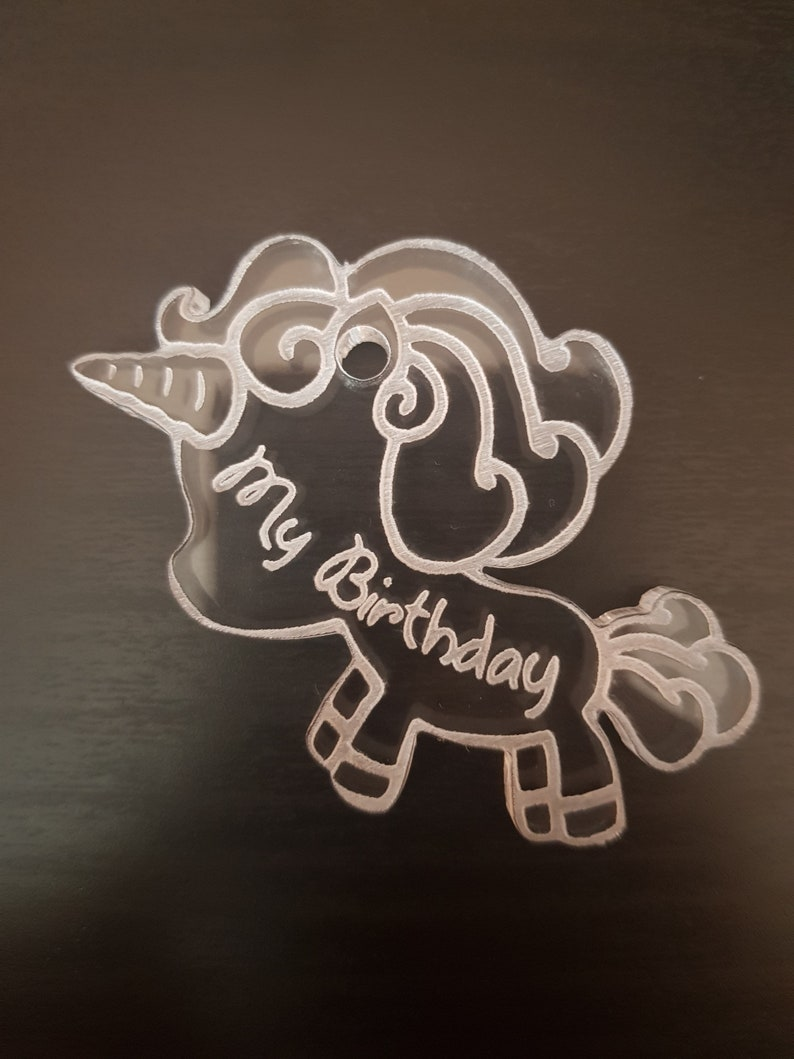 Silicone Mold UNICORNO Birthday shiny