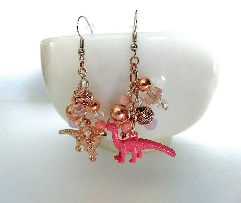 Jewelry Cartilage Dinosaur Earrings Gold Color