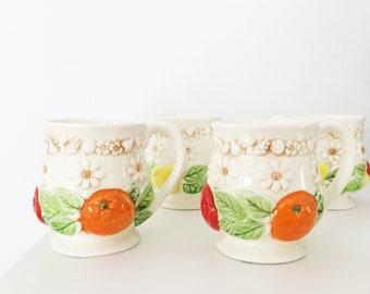 ce71619b402 Set of Fred Roberts Co. Vintage Fruit Mugs