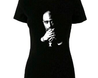 e6d4a59d1383db Womens 2Pac Tupac T Shirt Hip Hop Tee Shirt Cute Top Streetwear Urban