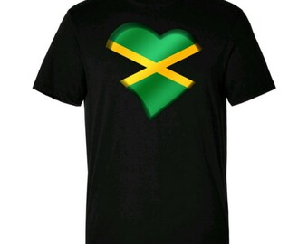 Men's Love Jamaica T/Shirt Music Top Music Lyric Slogan Gift For Him