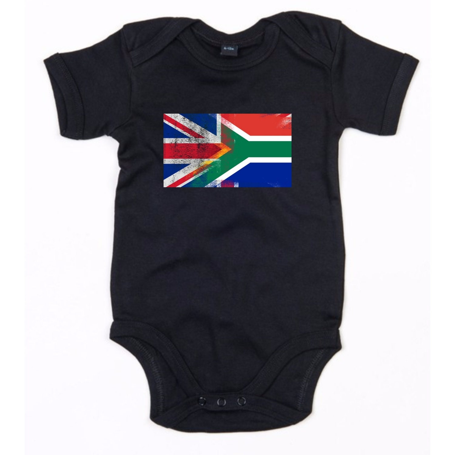 Mri-le1 Newborn Baby Coverall Ghana USA Flag Heart Baby Rompers