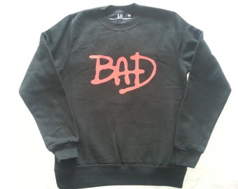 Mens Bad Sweatshirt - Music Sweater - Slogan - Plus Size S - 5XL
