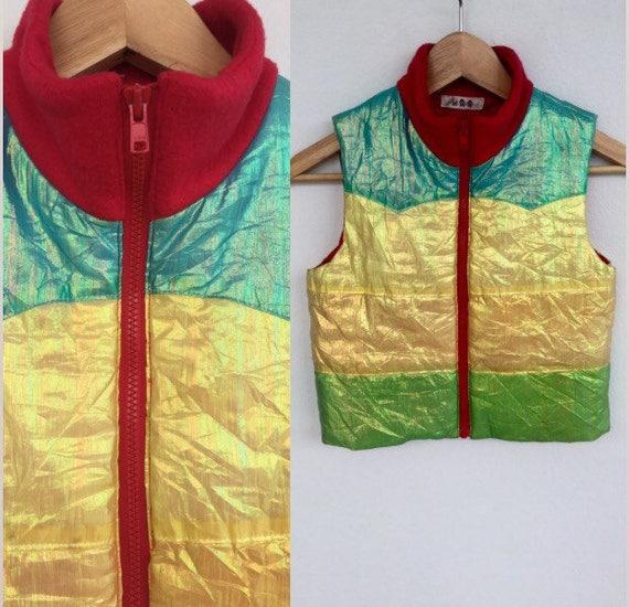 Vintage Kids Silk Bodywarmer Vest, Rainbow Bodywar