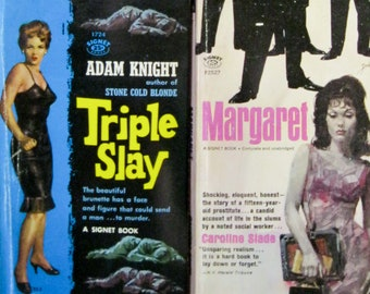BAD GIRLS 4 PULP Fiction Books (Some Damage) pic