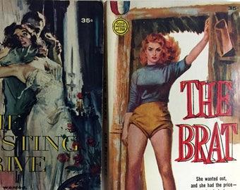 SIX VINTAGE PULP Books Lusty Ladies In Paperback Summer Reading