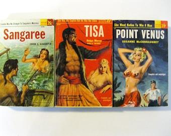 Three PULP FICTION Books ADVENTURE! Fantasy! Romance!