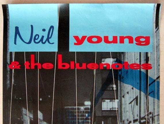 Life Original 24x36 1987 Neil YOUNG /& Crazy Horse Vintage Promo Poster