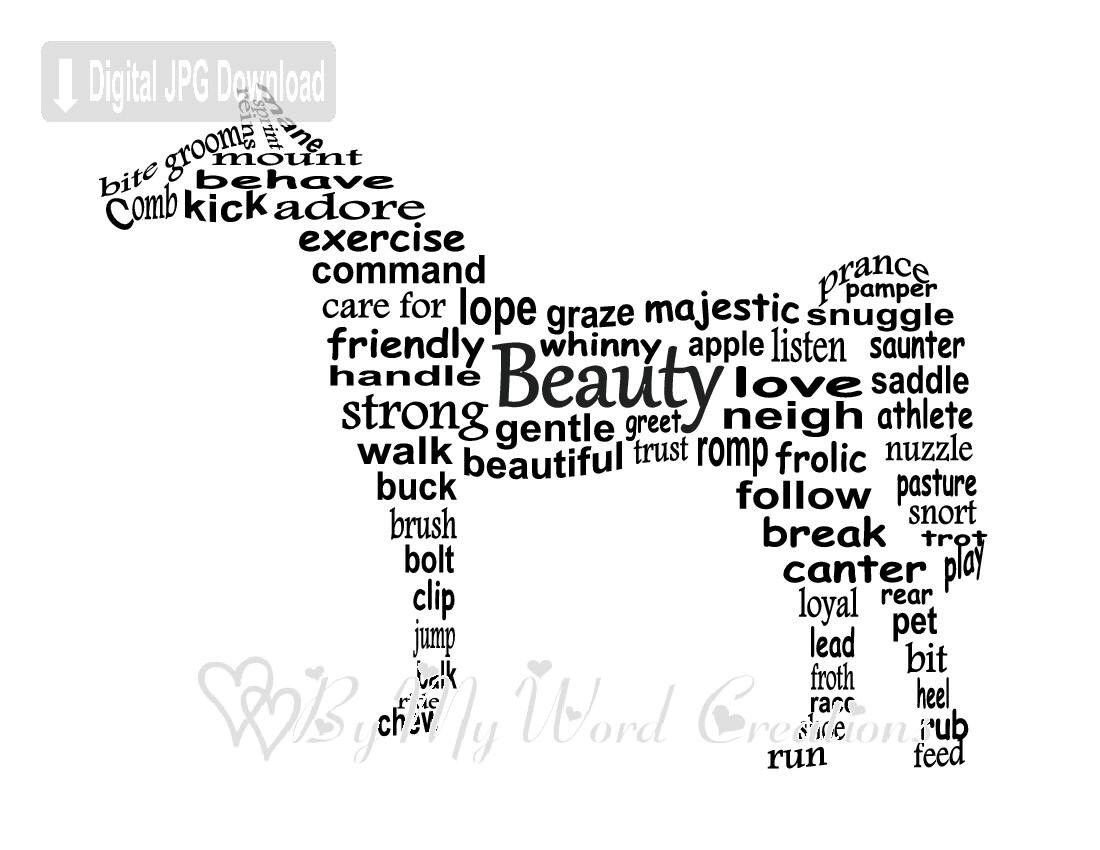 Horse Word Art Pictures