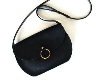 Leather Crossbody Bag Saddle Bag Messenger Bag the O-Series