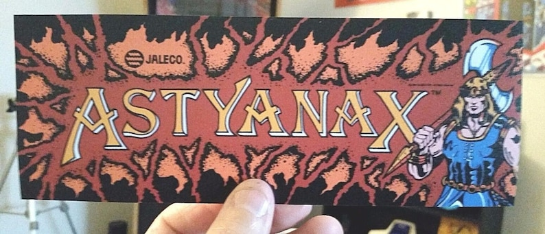 Buy any 3 of my stickers, GET ONE FREE! Astyanax arcade marquee sticker