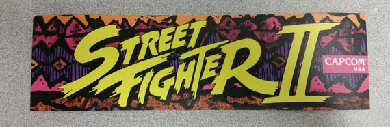 Street Fighter 2 Arcade Marquee Sticker Buy Any 3 Of My Etsy