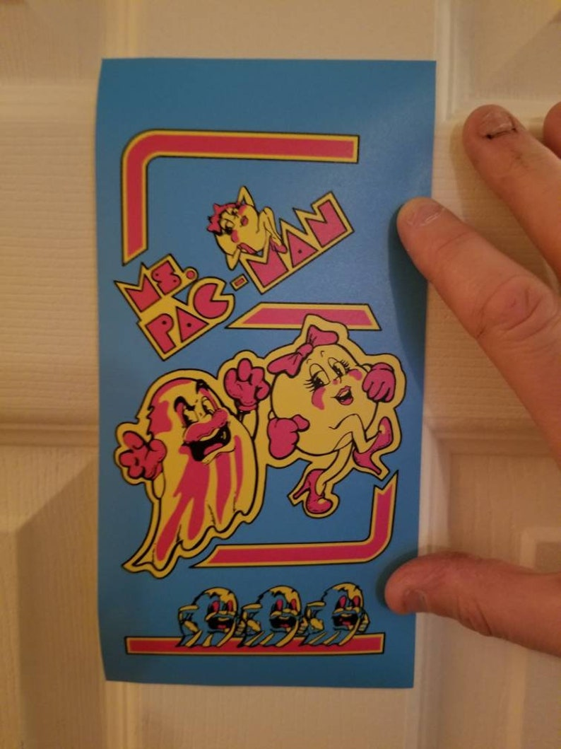 Ms Pac Man Marquee Black Version Cheapest Price From Our Site Replacement Parts Arcade Gaming