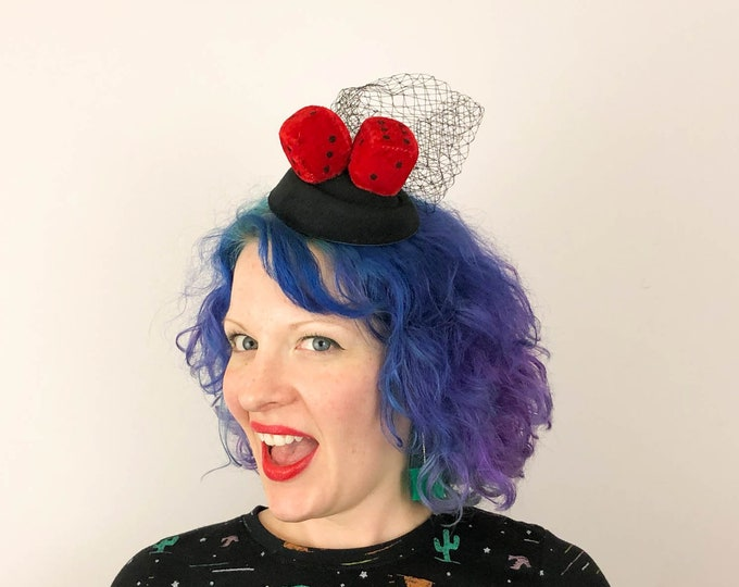 Featured listing image: Fuzzy Dice Fascinator, 1950s Fascinator