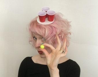 Beer Pong fascinator, Beer Pong Hat