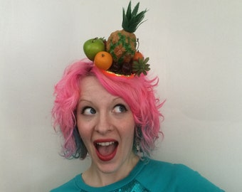 Carmen Miranda Inspired Fruit Fascinator, Tropical Fruit Hat