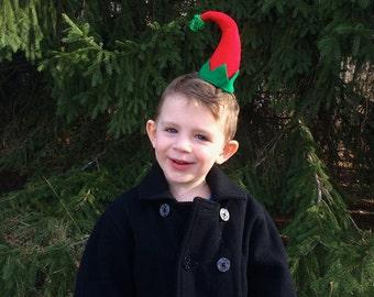 Christmas Curved Elf Hat Hair Clip: Christmas Fascinator