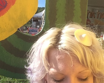Mini Straw Mexican Sombrero Hair Pin