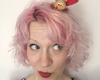 Mini Turkey Top Hat Hair Clip: Thanksgiving Fascinator
