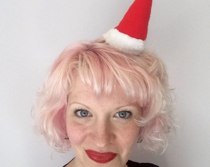 Featured listing image: Mini Santa Hat: Christmas Fascinator