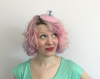 RTS Pink UFO Flying Saucer Fascinator, Alien fascinator