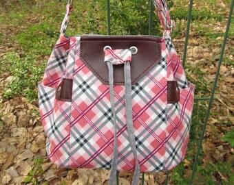 279ee3e594ce READY to SHIP-(Small) Dahlia Bucket Bag Purse Shoulder bag Cross  body-Adjustable strap-Pink