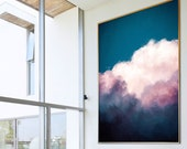 Cloud Painting Print, Cloud Print, Cloudscape Art Print, Large Wall Art, Abstract Wall Art, Pastel Art, Cloud Art READY to HANG ART