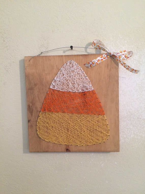 Candy Corn String Art Sign