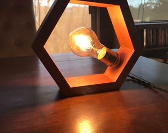 hexagon lamp etsy