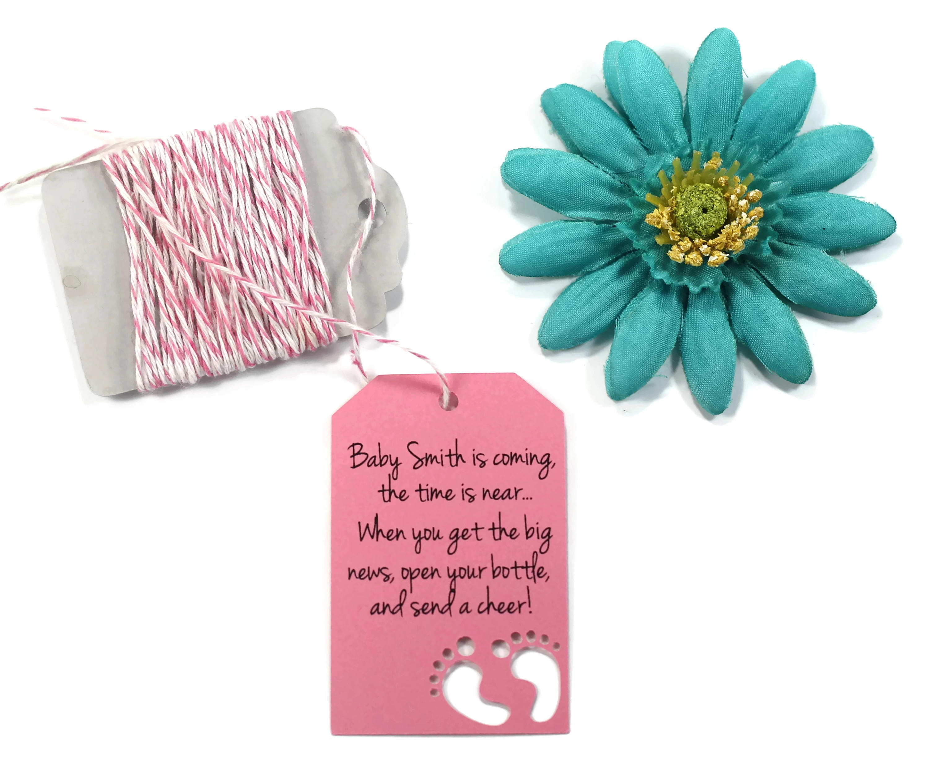 Baby is Coming Baby Shower Tags 20pc Open Your Bottle
