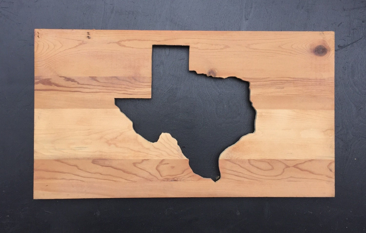 Rustic State of Texas reverse cutout, wall art home decor made from ...