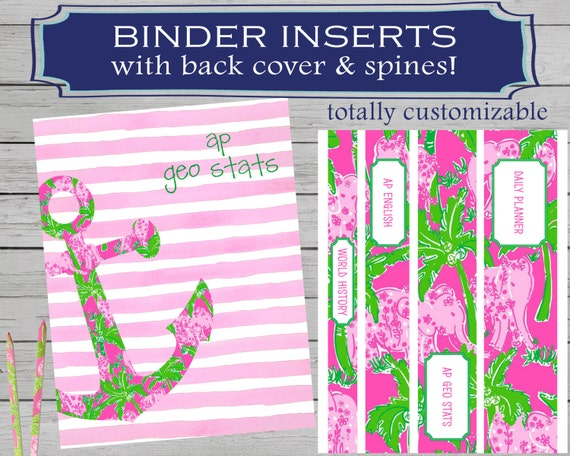 binder cover printable printable anchor binder cover etsy
