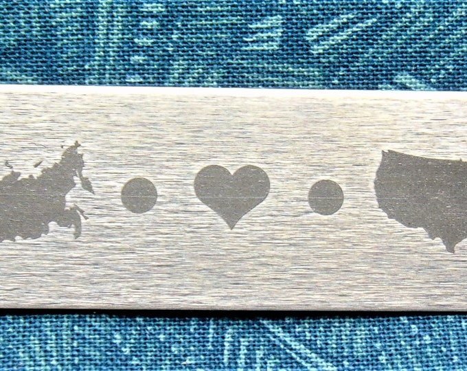 Adoption bar Key Chain. Personalized adoption Keychain, adoption gift, Country - Country, State to State Stainless Steel, Great Gift for Dad