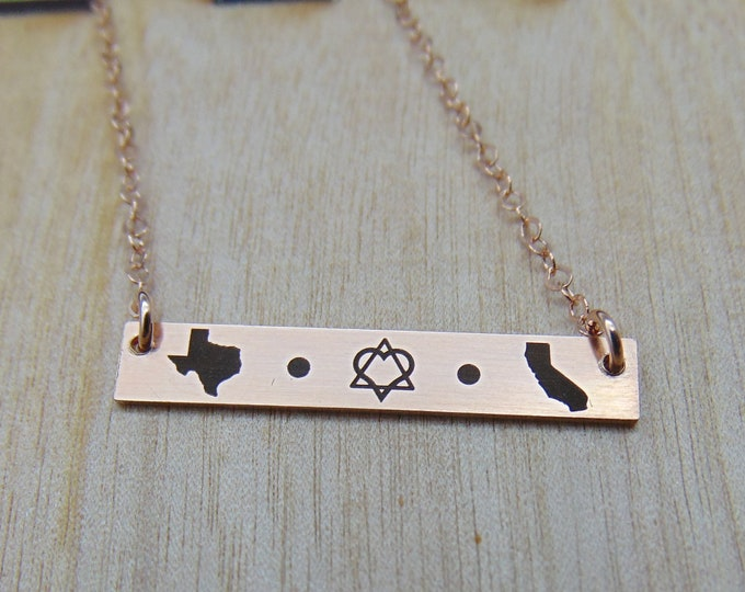 Adoption bar necklace. New Adoption Design! Personalized adoption jewelry, new mom, adoption gift Yellow Gold, Rose Gold, or Sterling Silver