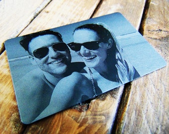 Anniversary Picture - Engraved Wallet Card - Personalized Back- Many Options - Custom