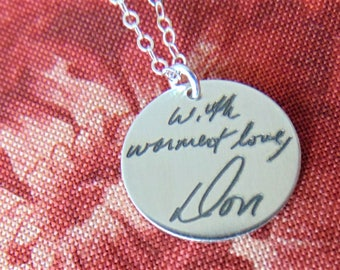 Custom Handwriting Personalized Message on Your Necklace! Child Writing or Art