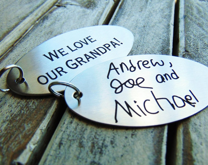 Engraved Children's Note - Actual Child's Handwriting Laser Engraved -