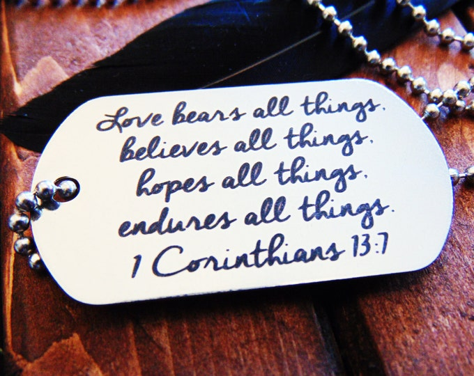 Actual Handwriting Dog Tag - Necklace or Keychain Option -  Signature Dog Tag - Easy Ordering