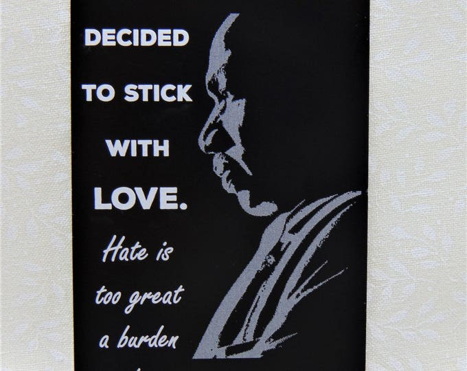 Martin Luther King Jr. Engraved Wallet Insert Love Note Custom Wallet Card Beautifully Etched MLK Memorial Black History Civil Rights Hero