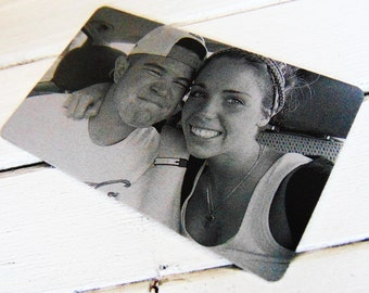 Anniversary Picture Card- Laser Engraved Image- Sentimental Gift for her/him- Personalized