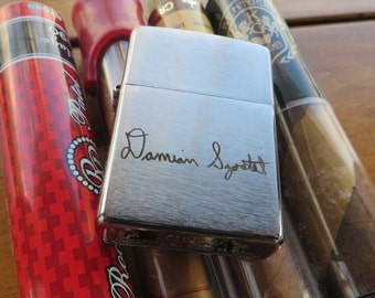 Signature Chrome Zippo Your Handwriting Laser Engraved Bridesmaid Gift Personalized Birthday Your hand writing or computer font