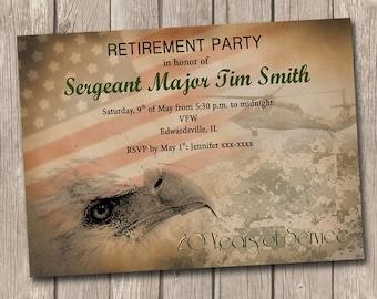 Marine Corps Retirement Invitation Printable Marine Corps